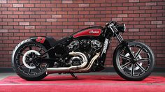 Tomahawk V Twin Garage Indian Scout Custom Motorcycle Bobber Motorcycle, Bobber Chopper, Cool Motorcycles, Harley Davidson Motorcycles, Vintage Motorcycles, Indian Motorcycles, Custom Bobber, Custom Bikes, Indian Scout Custom