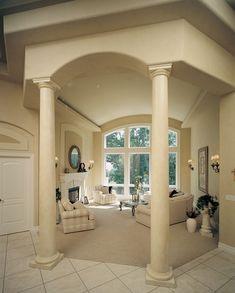 Pillared Great Rom WIth Amazing Windows! - plan #051D-0541 | houseplansandmore.com