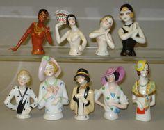 Twenties half-dolls including Josephine Baker 9