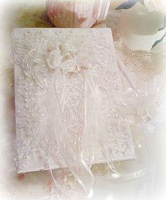 Bridal Elegance Wedding Guest Book and Pen