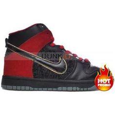 56c64f1e93 Womens Nike Dunk High Premium SB Bloody Sunday Edition Black