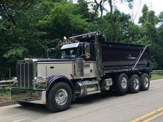 #dumdumptruck Peterbilt Dump Trucks, Peterbilt 389, Mack Trucks, Big Rig Trucks, Tow Truck, Semi Trucks, Lifted Trucks, Logging Equipment, Heavy Construction Equipment