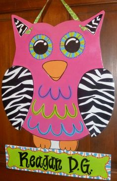 Owl door hanger from Etsy
