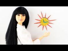 How to make a modern doll wall clock - YouTube