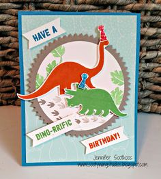Sootywing Studios: Dino-Rrific!, No Bones About It, Stampin' Up! Birthday card
