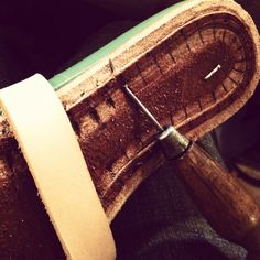 And so it goes.. preparing the insole. Happy Easter! #ryaton #shoemaking #handmadeshoes #norestforthedamned