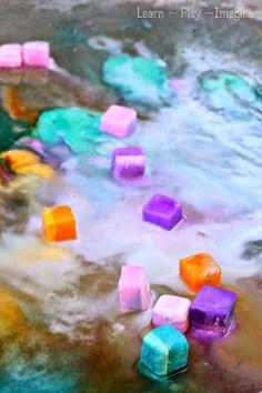 How to make erupting ice chalk