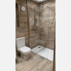 Driftwood Beige Wood Effect Wall And Floor Tile - Floor Tiles from Tile Mountain Wood Look Tile Bathroom, Wet Room Bathroom, Wood Wall Tiles, Wood Effect Tiles, Wood Tile Floors, Beige Bathroom, Wall And Floor Tiles, Bathroom Flooring, Small Bathroom