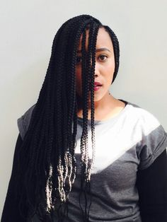 Protective styles • boxes • box braids