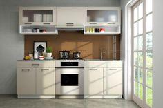 Küchenblock Gloria 2,2m  Die hervorragende Optik der Trendküche Gloria zu einem günstigen Preis!  Die hochwertigen Hochglanz 16 mm MDF Fronten in 5 verschiedenen Hochglanzfronten zeichnen die Küche aus und schenken dem Raum einen Charme. In eine Breite von 240 cm wurde sehr viel Stauraum eingebracht wodurch sich diese Küchenzeile sowohl für Singles als auch für Familien eignet. Kitchen Cabinets, Home Decor, Glamour, Closet Storage, Families, To Draw, Kitchen Cupboards, Homemade Home Decor, Decoration Home