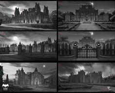 The Batcave & Wayne Manor concepts for Telltals Batman series! Dc Comics, Batman Comics, Batman Dark, Batman And Superman, Batman Batcave, Batman Telltale, Batman Redesign, Wayne Manor, Batwoman