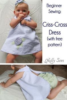 Criss-Cross Dress and Ruffle Bloomers. The simplest dress you'll ever make.