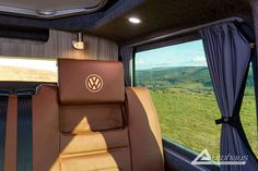 Chestnut Brown Ashton VW T6 Campervan Conversion - Autohaus Wedding Art, Wedding Humor, Campervan Conversions Layout, Country Girl Tattoos, Brown Roofs, Country Music Quotes, Campervan Interior, Travel Design, Orange Leather