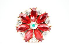 Floral Magnetic Hijab Pin