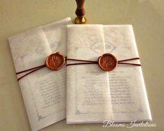 Wax Seal Wedding invitation