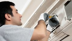 On-time air conditioner repair should be done for efficiently working AC unit in summer. Check these air conditioner repair tips for repairing your AC unit. Air Conditioning Installation, Air Conditioning Services, Heating And Air Conditioning, Hvac Maintenance, Preventive Maintenance, Air Conditioner Condenser, Clean Air Ducts, Hvac Repair, Conduit
