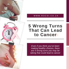 Even if you think you've been making healthy choices, there are 5 wrong turns you may be taking that could lead to cancer. #breastcancerawareness #breastcancer #breastcancersurvivor #breastcancerwarrior #cancer #survivor #womenshealth #health #pinkribbon #cancercommunity #ROCSI #DrSerrurier #DrCharlesSerrurier Breast Cancer Support, Breast Cancer Survivor, Breast Cancer Awareness, Health Tips, Health Care, Wrong Turn, Cancer Fighter, Facebook Sign Up, Healthy Choices