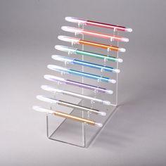 Horizontal pen display multiple (acrylic pen stand) & China Stands : Acrylic / Perspex China Stands \u0026 Plate Stands ...