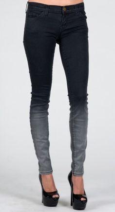 Current/Elliott Ankle Skinny in Black Fade