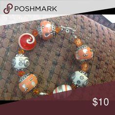 Orange beaded bracelet Very beautiful orange beaded bracelet Jewelry Bracelets