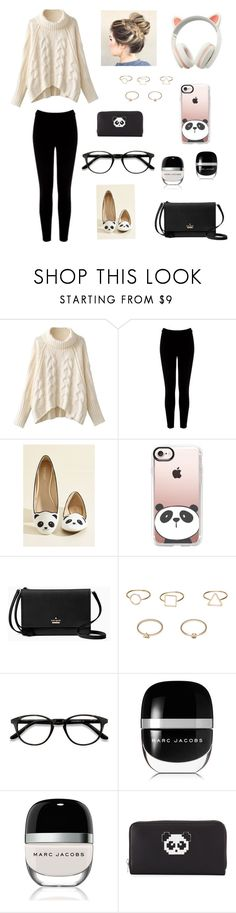 """Comfy & Cute"" by delfina-here ❤ liked on Polyvore featuring Warehouse, Casetify, Kate Spade, MANGO, EyeBuyDirect.com, Marc Jacobs and Les Petits Joueurs"
