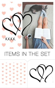 """""""Let's read together, Valentine!"""" by dundiddit ❤ liked on Polyvore featuring art, contestentry and valentinesday"""