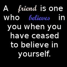 a friend....