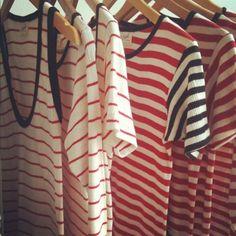 Striped shirts and sando