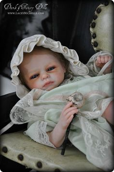 "Lacey Michelle Dark and Twisty Reborn Victorian Gothic Vampire Baby Art & Oddly Sweet OOAK Art Dolls. - BLOG - Dark & Twisty Dolls Welcomes Vampire Reborn Baby ""Adrastea"" SOLD/ADOPTED"