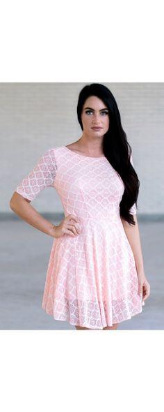 886da492608b The Brighten Up Lace Dress is a Cute Pink Dress