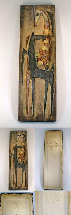 Großrelief Schaeffenacker Paar Pferde Wandplatte 68 cm   eBay