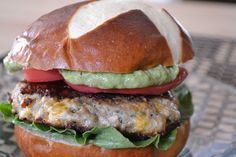 Jalapeno Chimichurri Cheddar Turkey Burger