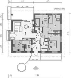 Projekt domu Margo multi-comfort 81,01 m2 - koszt budowy 158 tys. zł - EXTRADOM Floor Plans, How To Plan, House, Models, Home, Haus, Fashion Models, Templates, Floor Plan Drawing