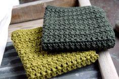 Hæklet karklud med krydsede stangmasker Crochet Home, Knit Crochet, Crochet Potholders, Drops Design, Washing Clothes, Couture, Knitting Patterns, Diy And Crafts, Inspiration