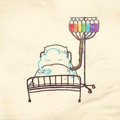 Nube preparándose para ofrecernos un arco iris . Más en www.lasfotosmasgraciosas.com