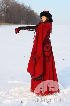 "Medieval Fantasy Wool Winter Coat ""Queen Of Shamakhan,"" via Etsy."
