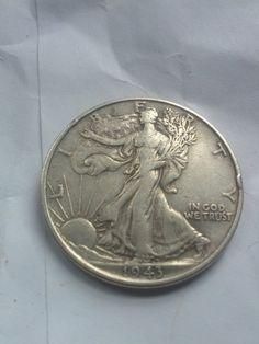 1943 VF Walking Liberty Silver half dollar by DrewsCollectibles, $17.00