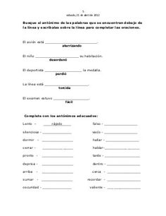 Guia de sinonimos y antonimos