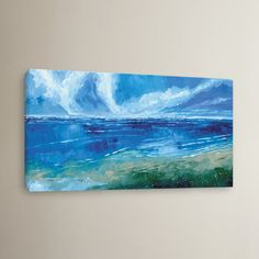 Breakwater Bay Rectangular Seascape I Painting Print on Wrapped Canvas | Wayfair