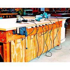 Tilt-and-Go Tool Bins Woodworking Plan