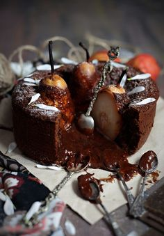 Chocolate Pear Cake by eat-love-and-be-happy:  http://eat-love-and-be-happy.com/chocolate-pear-cake/ #Cake #Chocolate #Pear