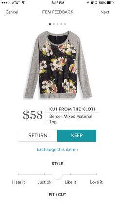 KTKF Benter mixed material top. Get in my closet!