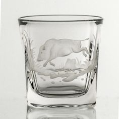 Serving a Lady a Drink?  Use this tumbler yourself and give her the Fox!  Experienced advice!  Crystal Whiskey Decanter Set with Hunting – Gifts by Kasia