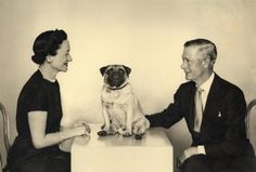 The Duke and Duchess of Windsor with their pug.