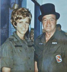 Patti Ehline - a Vietnam nurse pictured here with Bob Hope.