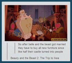 Disney Beauty and the Beast funny pun joke