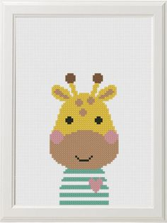 The Giraffe Ride - Hand Embroidery PDF Pattern - frieda Baby Cross Stitch Patterns, Cute Cross Stitch, Cross Stitch Animals, Baby Patterns, Learn Embroidery, Embroidery Hoop Art, Embroidery Stitches, Embroidery Patterns, Jungle Pattern
