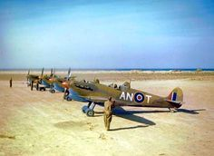Spitfire VCs of 417 Squadron RCAF in Tunisia 1943.