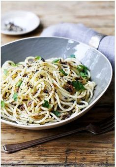 Spaghetti with Black Truffle Oil