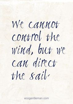 ☼ Positive quotes ♂ We cannot control the wind, but we can ...